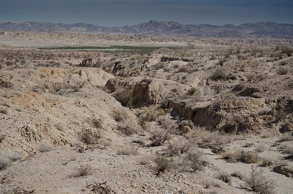 anzaborrego desert state park; california; carrizo badlands; desert Looking down into the badlands.