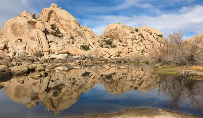 Barker Dam with water, Joshua Tree NP