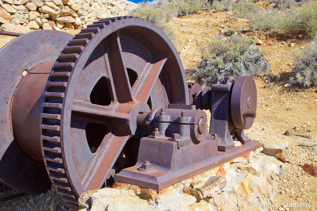 Winch at Lost Horse mine