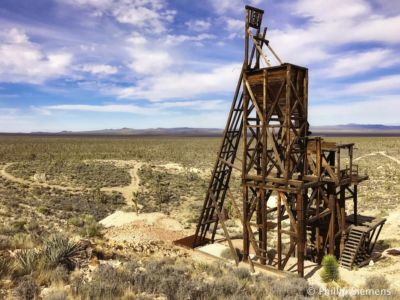 Evening Star Mine head frame