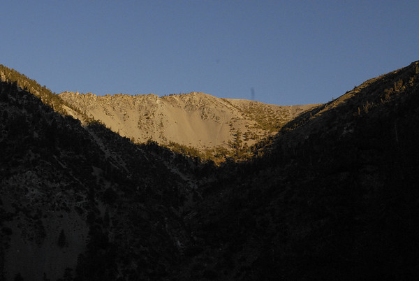 The Baldy Bowl in morning light from San Antonion Falls Rd.