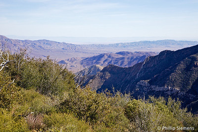 Anza Borrego and the Salton Sea off in the haze
