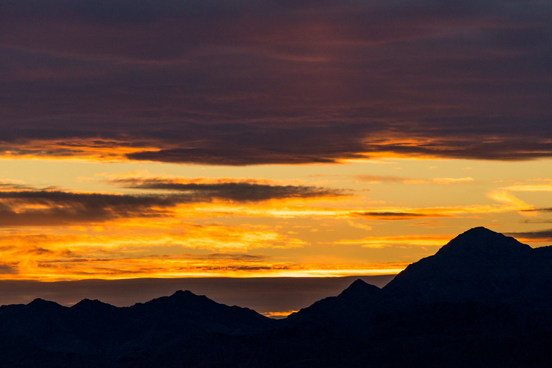 Last sunset over the Sheep Hole Mountains