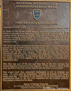 Marker for the Tehachapi Loop