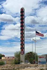 Nice day in Baker with the world's tallest thermometer.