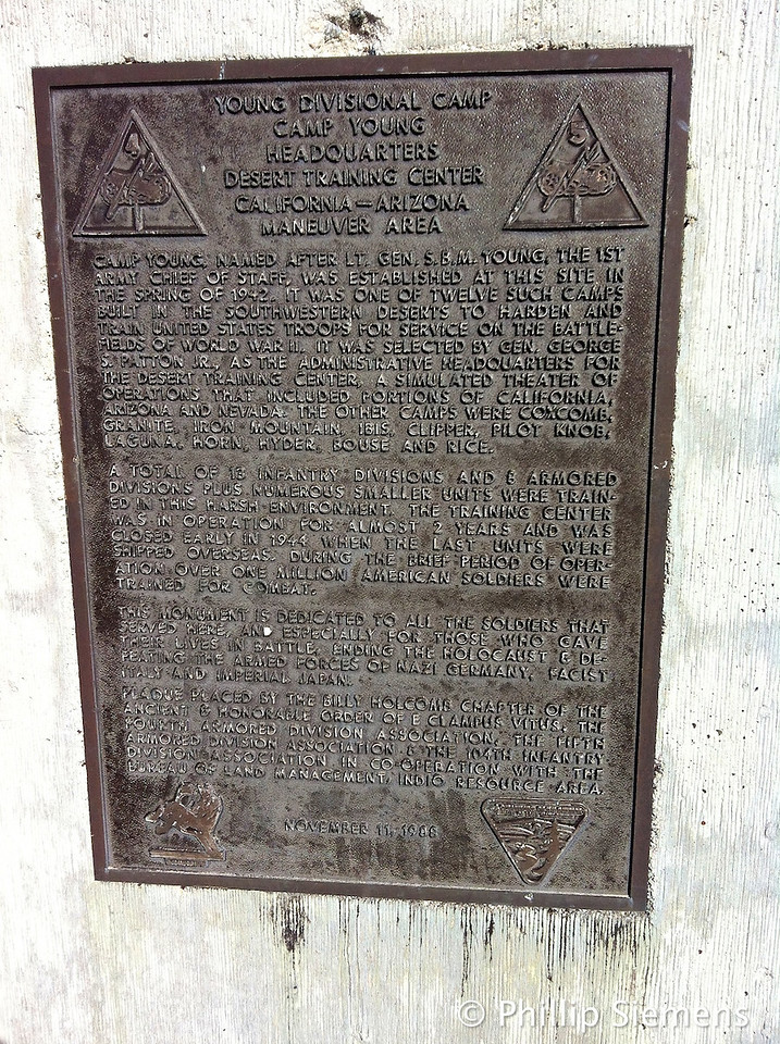 Camp Young historical marker