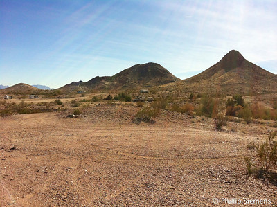 Hills at Quartzsite. It's an earth cache.