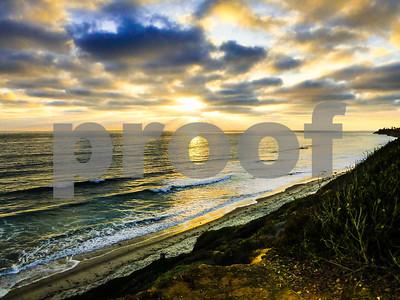Oceanside Coastline Sunset