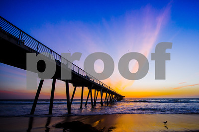 Redondo Beach Pier into the sunset