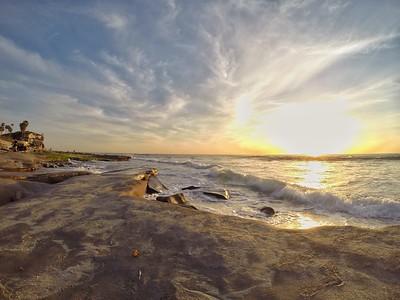 Reef Coastline Sunset
