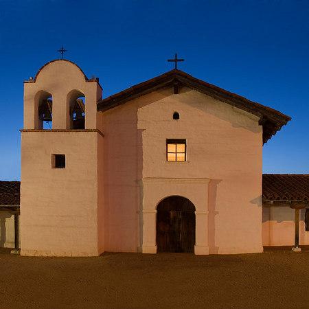 Santa Barbara Presidio, dusk.