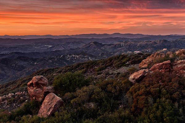 Sunset, Santa Monica Mountains