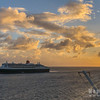 RMS Queen Mary 2  at Sunset