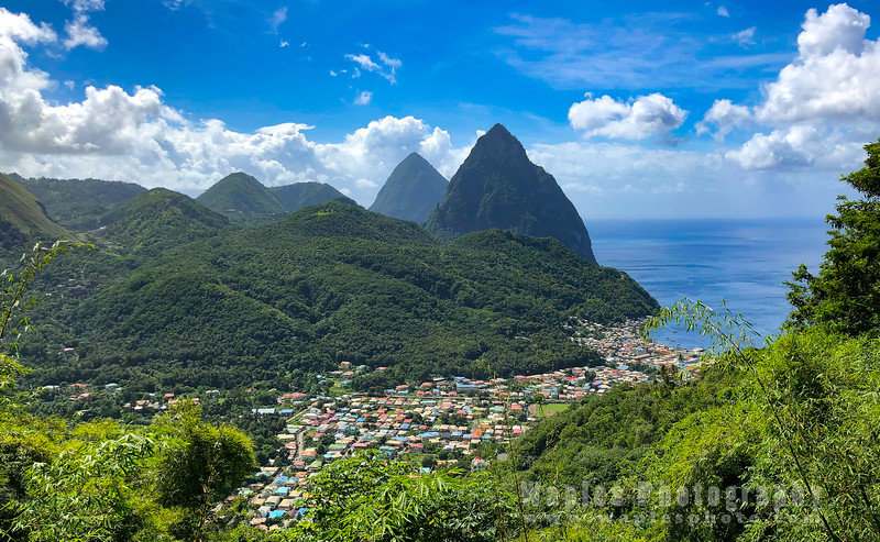 Town of Soufrière and Pitons