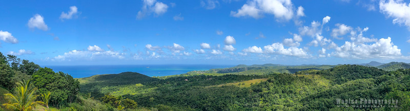 Hills and Ocean of Saint Lucia