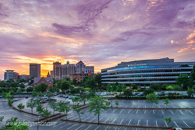 Clemson Sunset In Downtown Greenville, SC