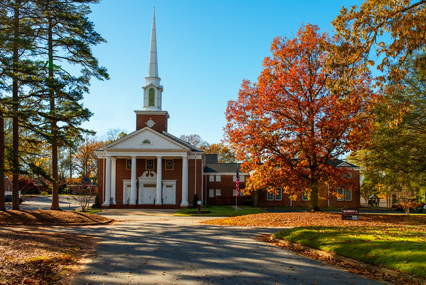 Pope Drive Baptist Church In Fall