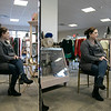 Owner of Southern Daisies Boutique in Leominster Jenna Charon talks about her new shop on Wednesday, Jan. 8, 2020. Here she is reflected in two of the full length mirrors she has in her shop. SENTINEL & ENTERPRISE/JOHN LOVE