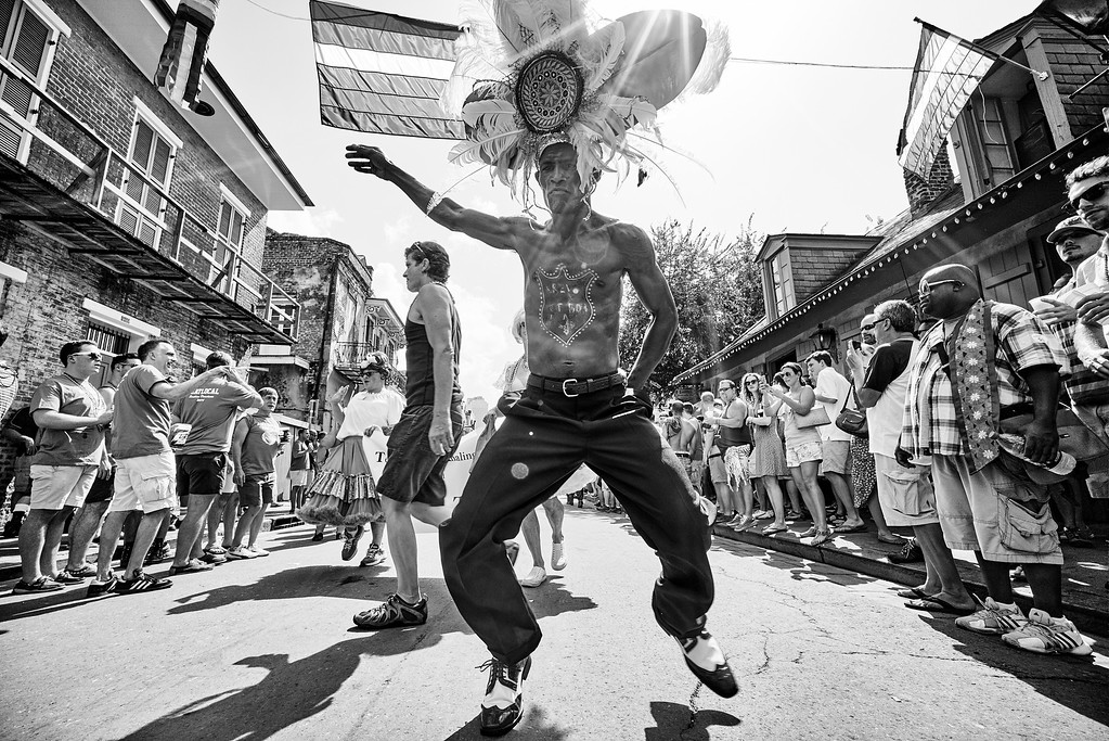 """At the Southern Decadence Parade, Darryl Young performs his second line dancing signature moves. Darryl is locally known as DancingMan504. He is a local New Orleans celebrity and quite a positive influence on the city. He promotes New Orleans second line dancing as a way to move yourself up.<br /> <br /> Blog Post:<br /> <a href=""""http://smellcircus.com/southern-decadence/"""">http://smellcircus.com/southern-decadence/</a><br /> <br /> Full Album:<br /> <a href=""""https://www.flickr.com/photos/sp1te/sets/72157647100311961/"""">https://www.flickr.com/photos/sp1te/sets/72157647100311961/</a>"""