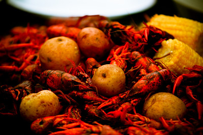 Crawfish, corn and potatoes Southern Food! The best in the world. From fried chicken to bottled peppers, we have it all!