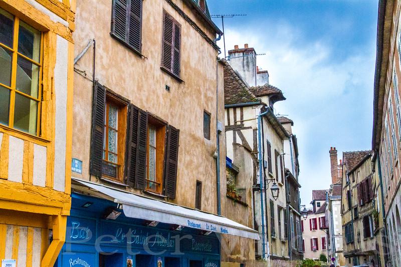 Auxerre, France Facades