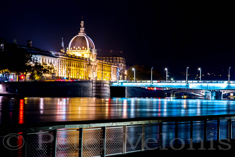 Night view on Rhone