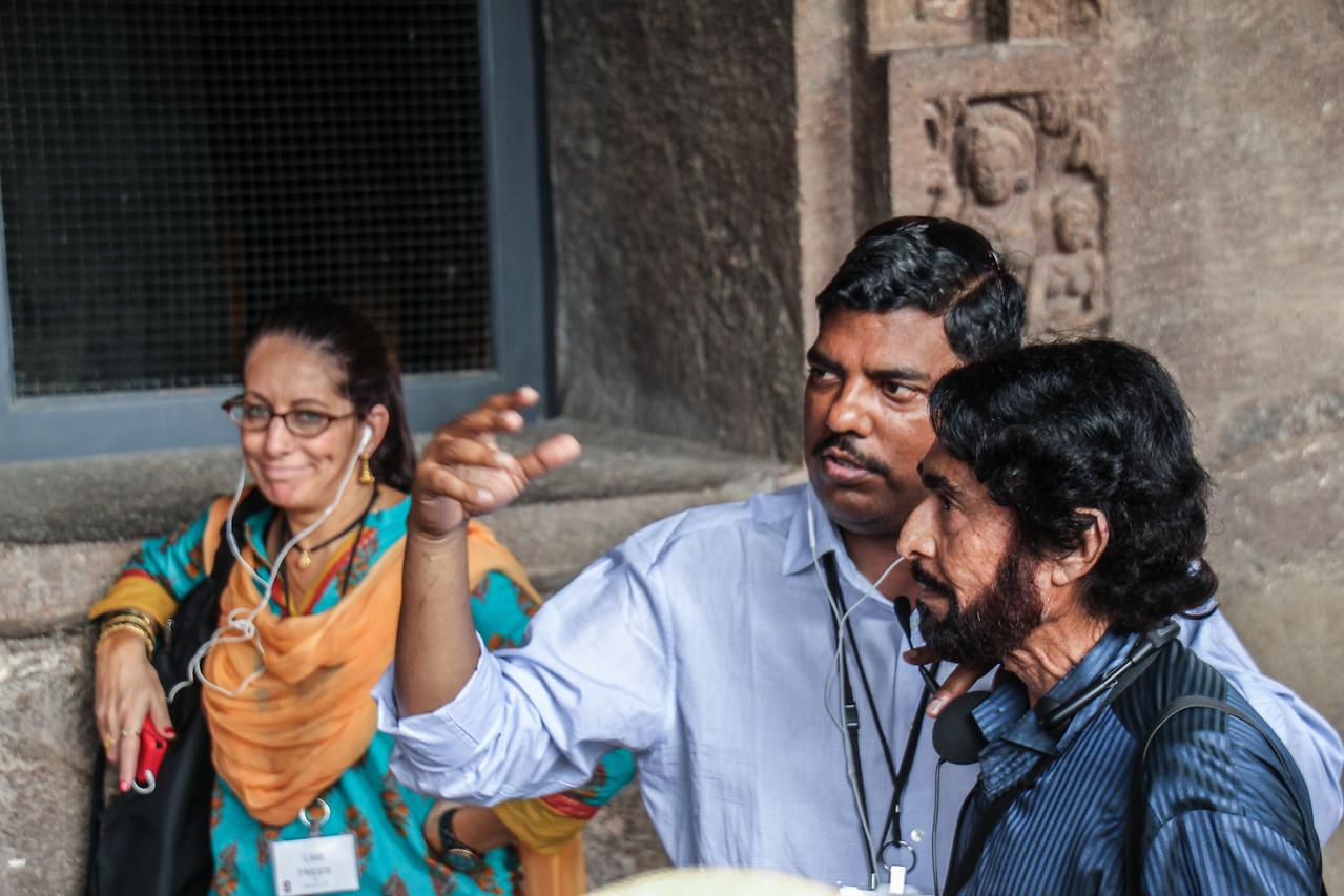 Lisa, Puneet, Alim at Ajanta