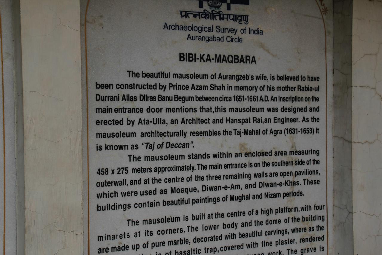 Bibi-ka-Maqbara Mausoleum (17C)