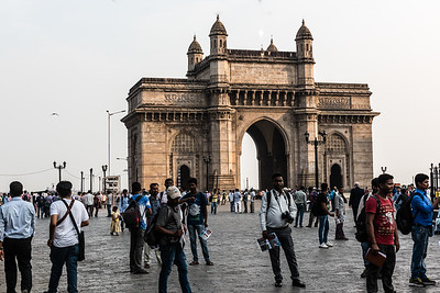The famous Gateway to India going back more than 100 years.
