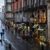 Rainy evening in Naples Italy.