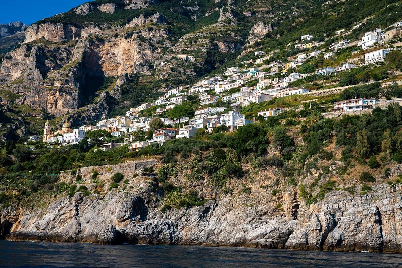 The village Praiano on Italy's Amalfi Coast.