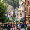 A Sunday afternoon stroll along the Corso Italia, Sorrento's main shopping street.
