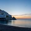 Just before sunrise at Amalfi on the Amalfi Coast in Italy.