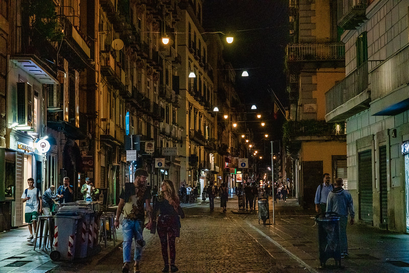 Naples Italy: night time street photography.