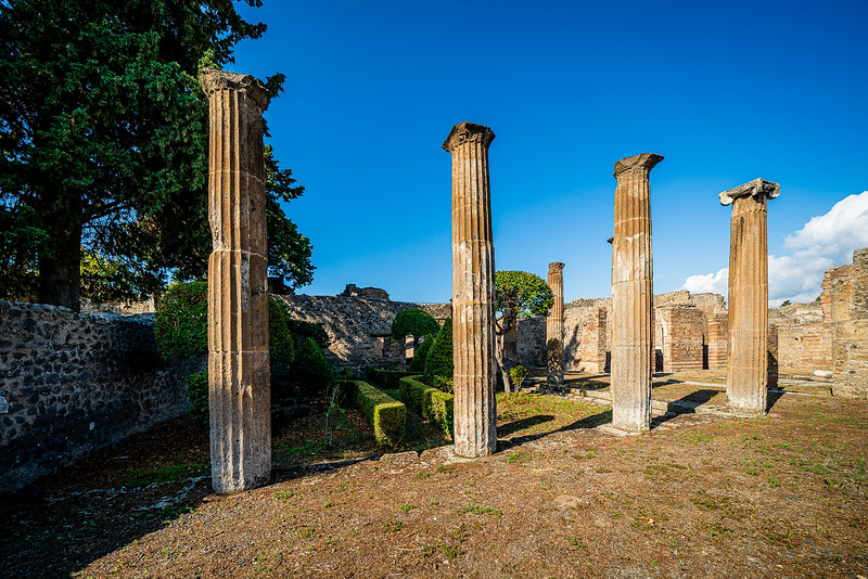 Ruins of the Temple of Isis at Pompeii.