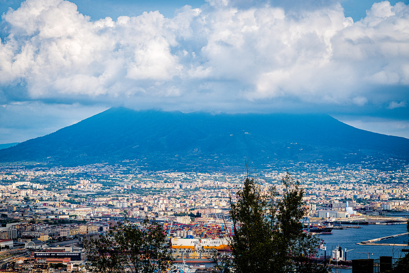Naples Italy, a city of some 3 million people, sprawls at the base of Mt Vesuvius....an active volcano!