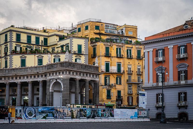 At the Piazza del Plebiscito in Naples Italy.