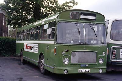 Southern National 2747 Taunton Depot May 86