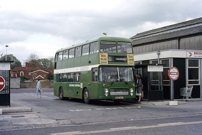 Southern National 1089 Bridgewater Bus Stn May 86