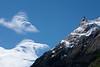 Basaltic lava peak near the terminus of Glacier Grey.  Lago Grey.  Torres del Paine National Park, Patagonia, Chile