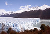 Perito Moreno Glacier, part of the Southern Patagonian Ice Field. One of only 3 Patagonian glaciers that are growing. At terminus, 5 miles wide and 240 feet above the surface of Lago Argentino.  Los Glaciares National Park (South Zone) - a UNESCO World Heritage site.  Southern Patagonia.  Santa Cruz province, Argentina.