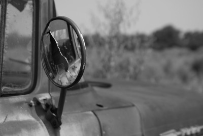 Ford Truck Mirror Some photos just scream for Black and White! These Mississippi Delta photos are no exception. Oh what beautiful photos we get when we mix that Southern water with a southern sunrise or sunset! Southern transportation comes in all forms. From tractors to mules, from trains to boats!