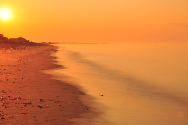 """Sunup"" – early morning at Misquamicut Beach, Rhode Island, in August 2011."