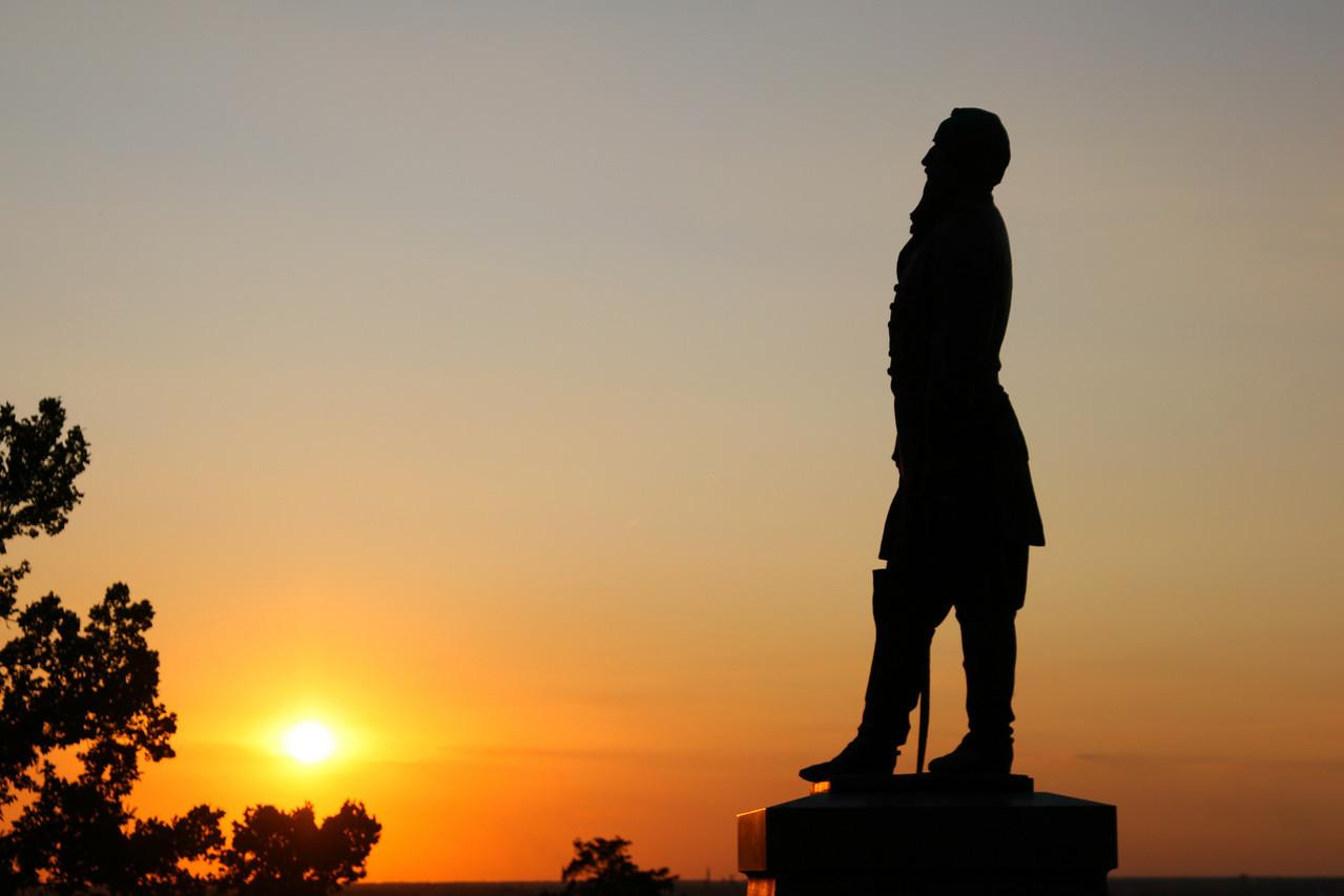 Silhouette A beautiful delta sunrise or sunset!