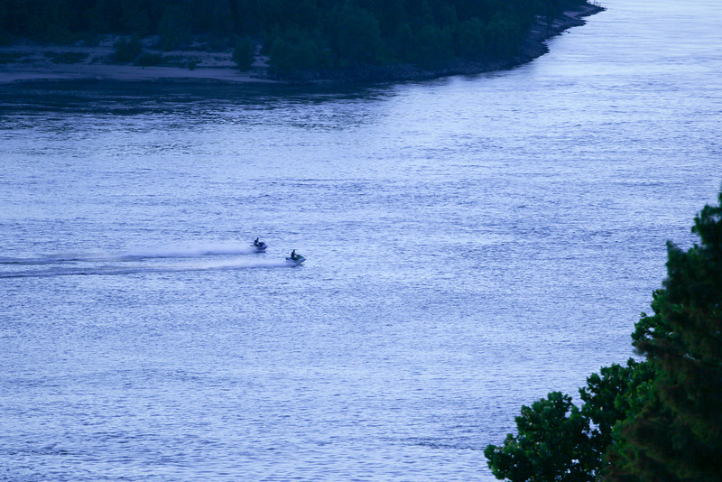 Jet Skis Mississippi River Southern transportation comes in all forms. From tractors to mules, from trains to boats!