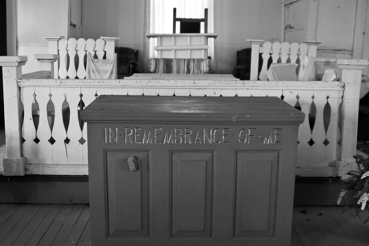 Some photos just scream for Black and White! These Mississippi Delta photos are no exception. Some old churches and other items found inside the church that represent our southern faith.