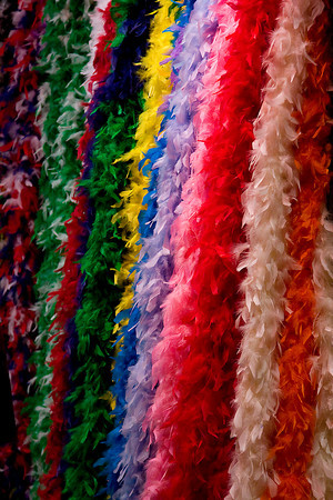 Feather Boas in French Quarter Shop