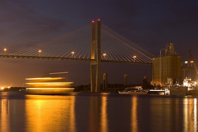 Cruise Ship passing under Talmadge Memorial Bridge
