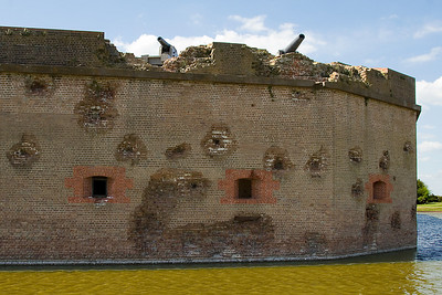 Fort Pulaski Artillery Damage