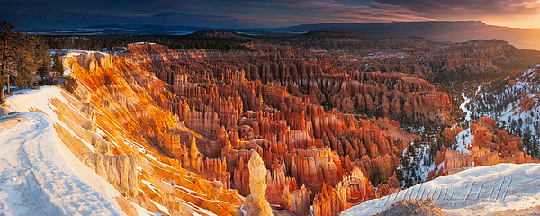 Panorama Sunrise at Inspiration Point, Bryce Canyon